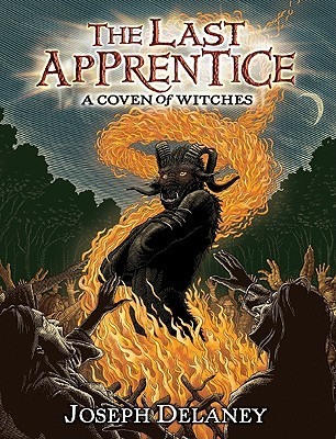 book cover for Last Apprentice, A coven of witches